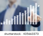 business success with growing ... | Shutterstock . vector #435663373