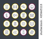smart house technology system... | Shutterstock .eps vector #435665113
