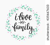 friendship family positive... | Shutterstock .eps vector #435667633