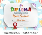 diploma template for kids ... | Shutterstock .eps vector #435671587