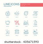 set of modern vector simple... | Shutterstock .eps vector #435671593