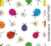 seamless pattern with colorful... | Shutterstock .eps vector #435675487