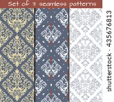 Set Of 3 Seamless Patterns In...