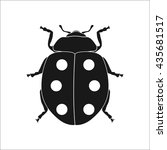 lucky ladybug sign simple icon... | Shutterstock .eps vector #435681517