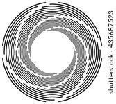 abstract monochrome spiral ... | Shutterstock .eps vector #435687523