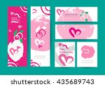 vector collection of abstract... | Shutterstock .eps vector #435689743