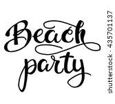 beach party. inspirational...   Shutterstock .eps vector #435701137