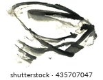 abstract black ink stain.... | Shutterstock . vector #435707047
