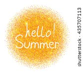 hello summer .vector... | Shutterstock .eps vector #435707113