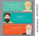 colored images of ancient greek ... | Shutterstock .eps vector #435720127