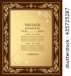vintage gold background ... | Shutterstock .eps vector #435725287