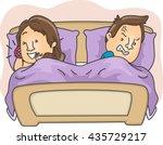 illustration of an annoyed... | Shutterstock .eps vector #435729217
