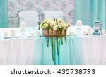 wedding table decorations in... | Shutterstock . vector #435738793