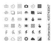 photography icons  included... | Shutterstock .eps vector #435743047