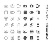 photography icons  included... | Shutterstock .eps vector #435743113