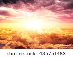 top sky with clouds at sunset... | Shutterstock . vector #435751483