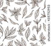 hand drawn engraving style... | Shutterstock .eps vector #435752953