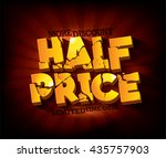 half price sale typographic... | Shutterstock .eps vector #435757903