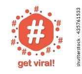 hastag sign of trending topic... | Shutterstock .eps vector #435761533