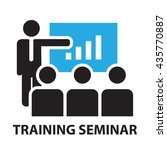 training seminar for business... | Shutterstock .eps vector #435770887