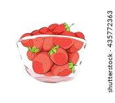 strawberries in cup | Shutterstock .eps vector #435772363