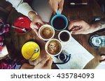 camping friendship friends map... | Shutterstock . vector #435784093