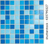 blue mosaic tiles for bathroom... | Shutterstock . vector #435790327
