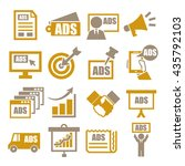 advertising icon set | Shutterstock .eps vector #435792103