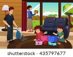 a vector illustration of whole... | Shutterstock .eps vector #435797677