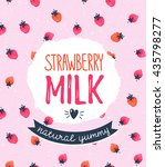 Strawberry Milk Graphic Design...