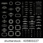 wicker lines and decor elements ... | Shutterstock .eps vector #435803227