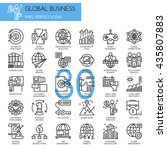 global business   thin line and ... | Shutterstock .eps vector #435807883