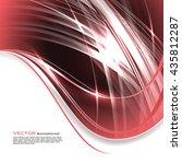 vector wavy red background.... | Shutterstock .eps vector #435812287
