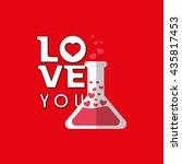 love design. romantic icon.... | Shutterstock .eps vector #435817453