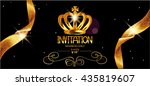 vip invitation gold card with... | Shutterstock .eps vector #435819607