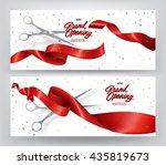 grand opening elegant banners... | Shutterstock .eps vector #435819673