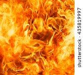 blaze fire flame texture... | Shutterstock . vector #435819997