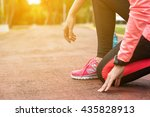 fitness woman training and...   Shutterstock . vector #435828913
