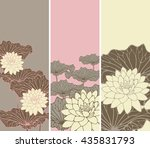 A Set Of Asian Style Floral...