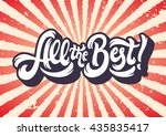 all the best lettering text... | Shutterstock .eps vector #435835417