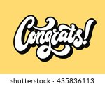 congrats lettering text banner