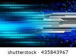 digital data background blue... | Shutterstock . vector #435843967