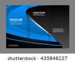 business tri fold brochure ... | Shutterstock .eps vector #435848227