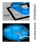 vector tri fold brochure design.... | Shutterstock .eps vector #435848263