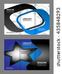 template design of blue trifold ... | Shutterstock .eps vector #435848293