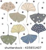 pattern of leaves   Shutterstock .eps vector #435851407