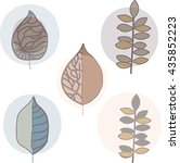 leaves in circle | Shutterstock .eps vector #435852223