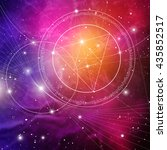 sacred geometry. mathematics ... | Shutterstock .eps vector #435852517