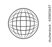 sphere icon. sphere vector... | Shutterstock .eps vector #435853657