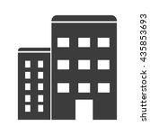 apartment icon. flat vector... | Shutterstock .eps vector #435853693